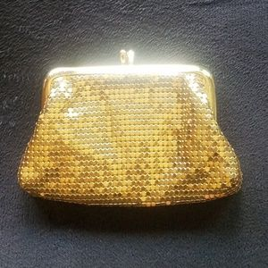 Vintage Whiting & Davis gold coin purse